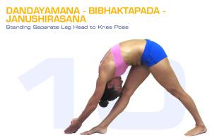 Dandayamana-Bibhaktapada-Janushirasana