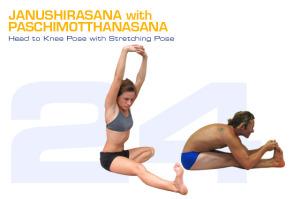 Janushirasana with Paschimotthanasana