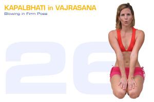 Kapalbhati in Vajrasana